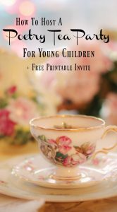 Poetry Tea Party Free Download Invite