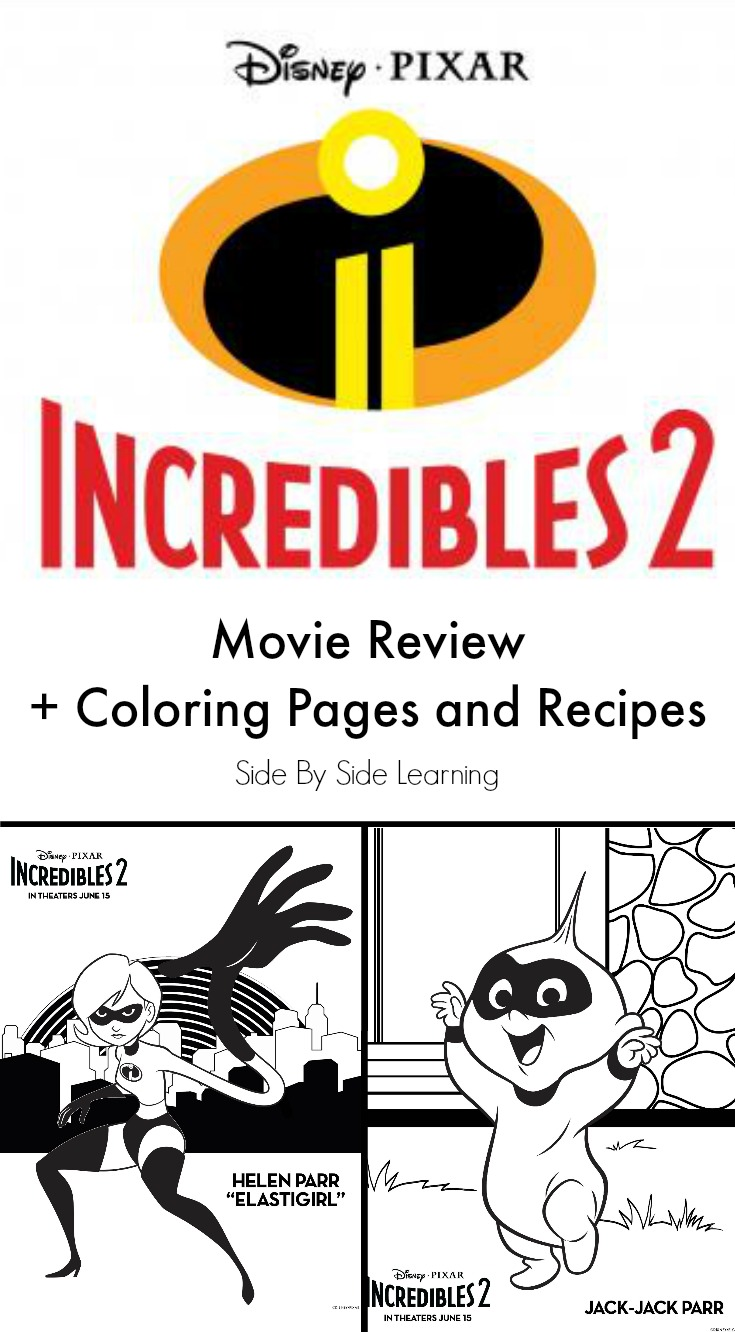 Incredibles 2 Movie Review Coloring Pages and Recipes