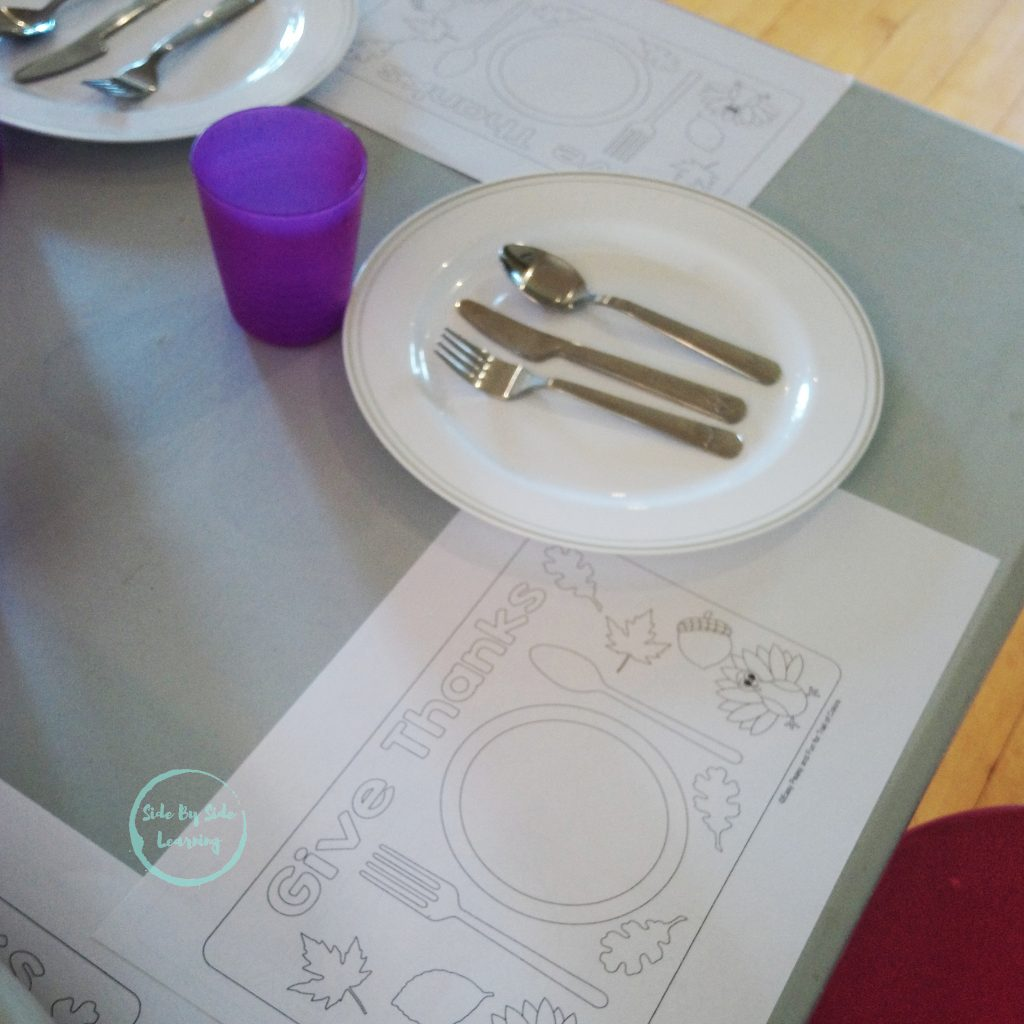 Hosting My First Thanksgiving Dinner Kid Placemats