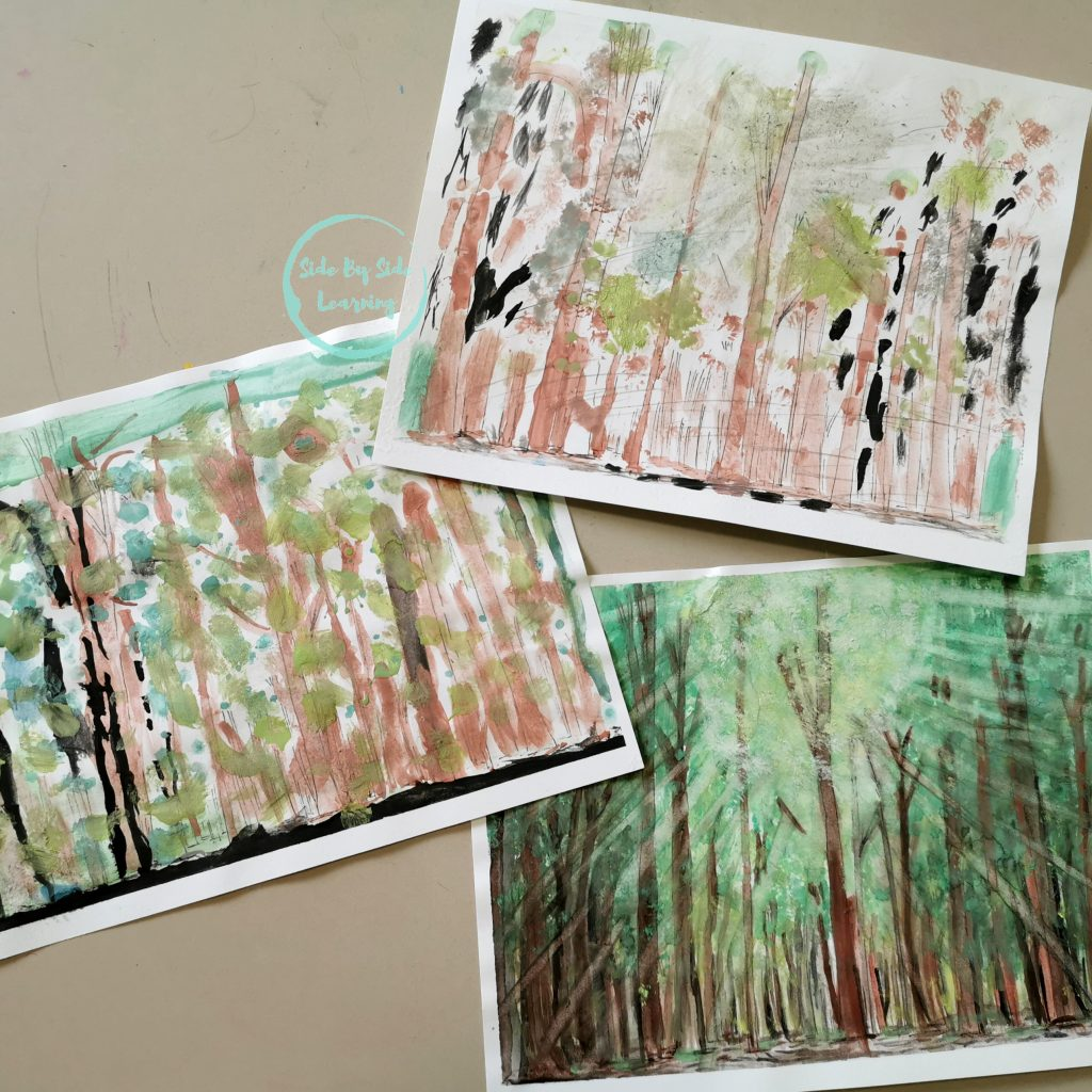 Sacred Grove Watercolor