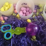 Easter Egg Sensory Bin Color Sort