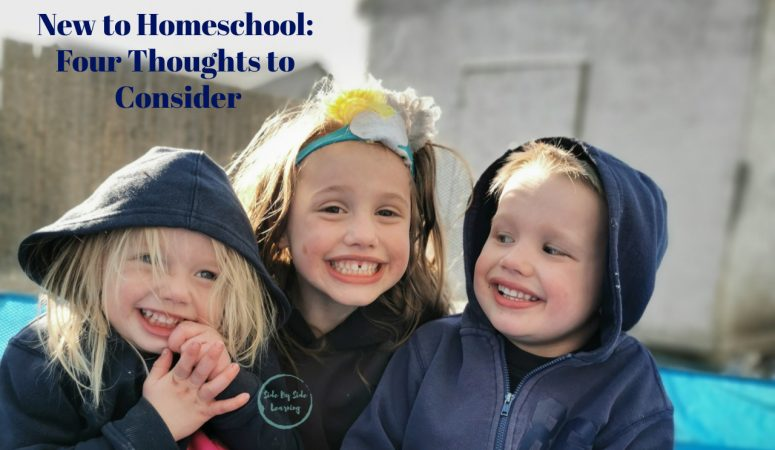 New to Homeschool: Four Thoughts to Consider